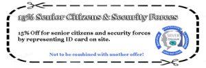 15% off senior citizens