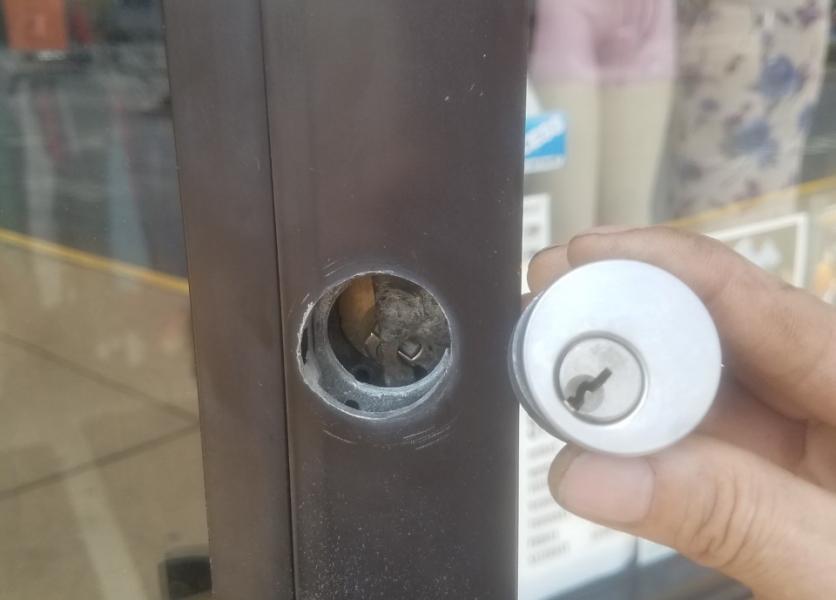 Storefront Door Lock Repair